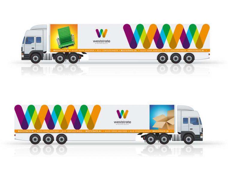 Weststrate vrachtwagen