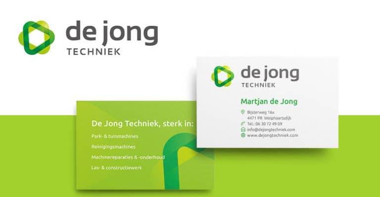 De Jong Techniek visitekaartje