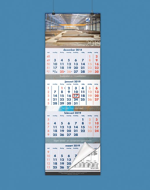 Antwerpse Staal Services kalender 2019