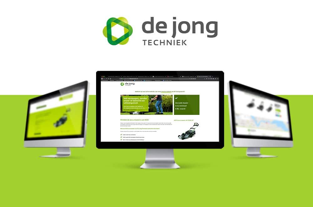 De Jong techniek, actie website